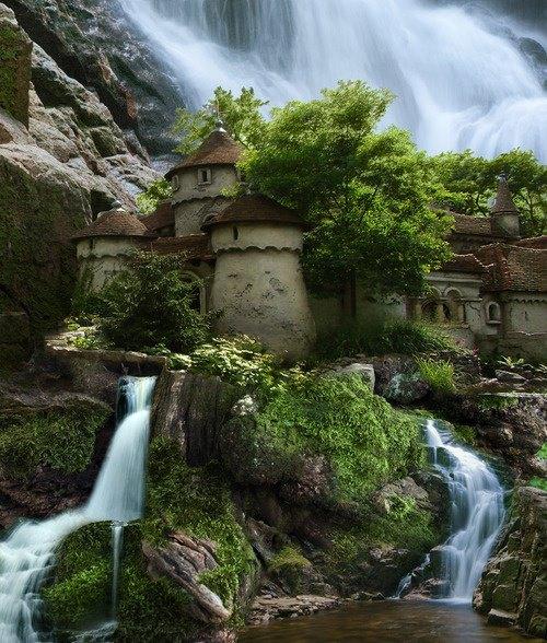 Castilla de la cascada de Agua, Polonia