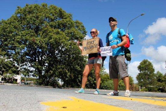 adri y gosi autostop Australia